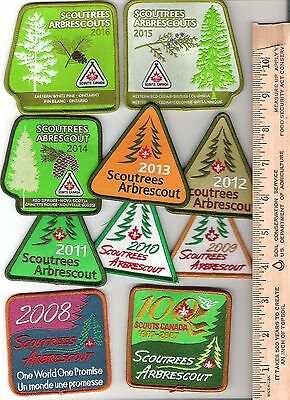 Scouts Canada - Trees for Canada - Scouttrees - 2007 to 2016 - 10 crests