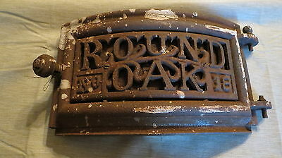 Vintage Round Oak 18 Cast Iron Pot Belly Stove Door