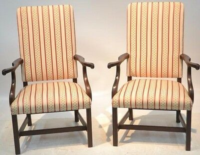 Pair of Kittinger Williamsburg Lady's Chairs WA 1040 Mahogany Chippendale