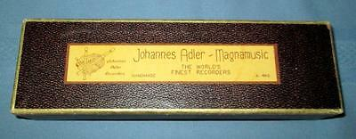 Vintage Johannes Adler Magnamusic A-440 Recorder Handmade in Germany SUPER!