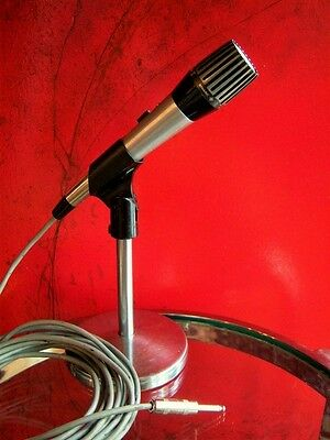 Vintage RARE 1960's Shure 548SD cardioid Dynamic microphone old w accessories
