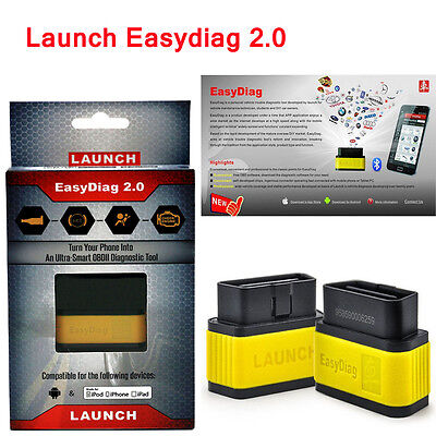 Launch X431 EasyDiag 2.0 EOBD&OBDII Bluetooth Code Reader  for IOS&Android