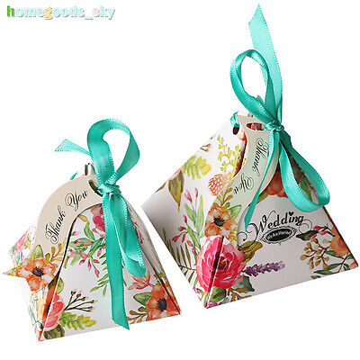 10pcs Candy Boxes Bags Wedding Favour Favor Sweet Cake Gift Anniversary Party