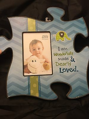 Baby Boy Picture Frame , Puzzle Decor, Home, Nursery, Newborn.