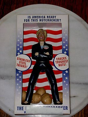 Hillary Clinton Nutcracker Stainless Steel Thighs Novelty Item New In Box!!
