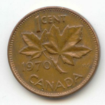 1970 Canadian PENNY one cent Canada 1c ~ Exact Coin Shown ~
