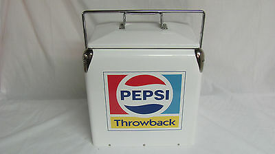 White Pepsi Throwback Metal Cooler