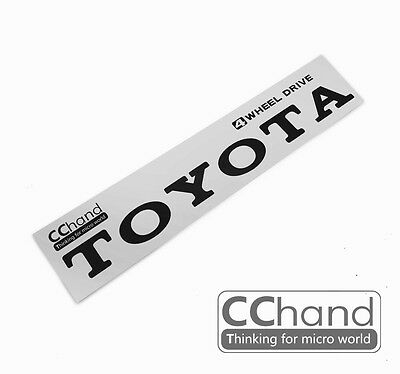 [CChand] 1/10 RC4WD TF2 TOYOTA Metal sticker [Retro black writing type]