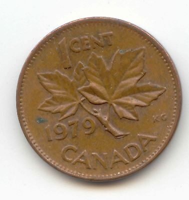 1979 Canadian PENNY one cent Canada 1c ~ Exact Coin Shown ~