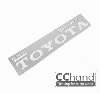 [CChand] 1/10 RC4WD TF2 TOYOTA Metal sticker [Retro Siver writing type]