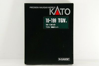 KATO N scale TGV 10-199  4 car set (ADD-ON SET) made in JAPAN !!!