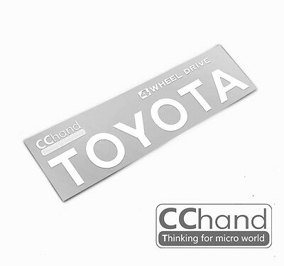[CChand] 1/10 RC4WD TF2 TOYOTA Metal sticker [Baisic Siver writing type]