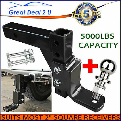 """6000LBS Adjustable Tow Bar Ball Mount Tongue Hitch 4WD 2"""" RECEIVERS HEAVY DUTY"""
