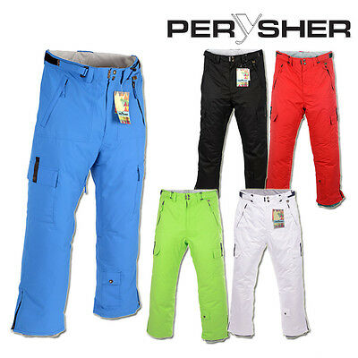 PERYSHER PERFORMANCE Waterproof Ski / Snowboard Pants for Men (5 Colour Choices)