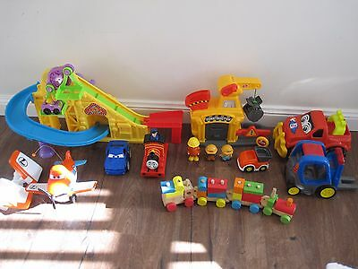 Mixed Of Toddler Toys Fisher Price Little People Roller Coaster, Chad Valley
