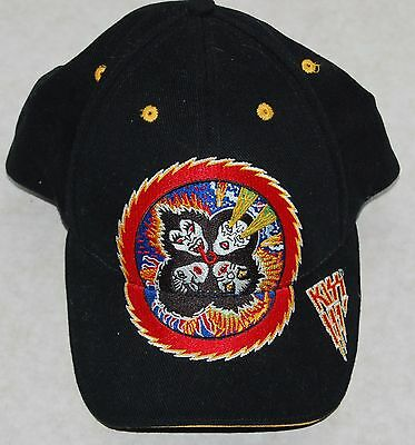KISS Rock And Roll Over Embroidered Adjust Hat Unworn 2001 Bio-Domes Gene Ace