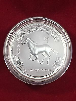 2002 Australia 50 Cents Lunar Series 1 Year of the Horse 1/2 oz .999 Silver