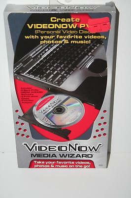 VideoNow Media Wizard PVD 4 Blank PVD's Create Your Own Discs NEW