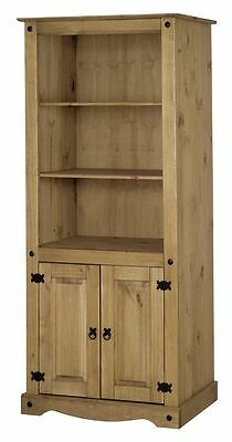 Get Cashback Corona 2 Door Bookcase Solid Fine Antique Fast Delivery