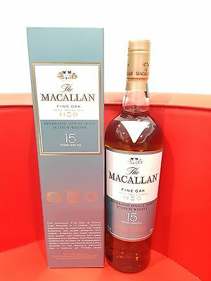 The Macallan Fine Oak 15 Year Old Single Malt Scotch Whisky 700ml 43 %abv