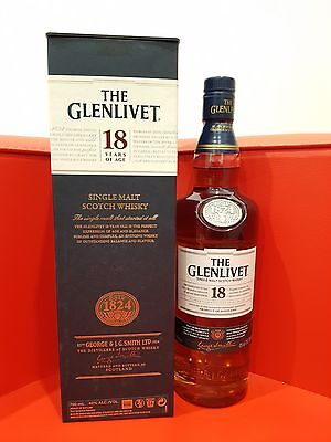 Glenlivet Single Malt Scotch Whisky 18 YO 700ml 43% abv