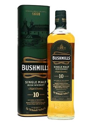 Bushmills 10 Year Old Single Malt Irish Whiskey (700ml)