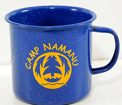 Camp Fire Girls Camp Namanu Sandy OR.  Blue Speckled Lg Enamel Camp Mug