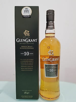 Glen Grant 10 Year Old Single Malt Scotch Whisky 700ml @ 40 % abv            ...