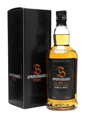 Springbank 10 Year Old Single Malt Scotch Whisky 700ml 46 % abv              ...