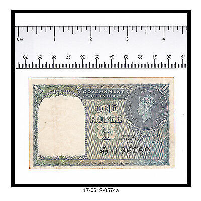 1940 India One Rupee Note