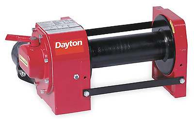 New! Dayton 9,000 Lb. Hydraulic Winch, 12Gpm, 3Ezc3