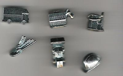 Monopoly Game Pieces - replacement movers - tokens - City Ed - lot of 6