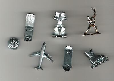 Monopoly Game Pieces - Here and Now Canada - lot of 7 movers tokens