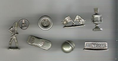 Monopoly Game Pieces - replacement movers - tokens - Nascar - lot of 8