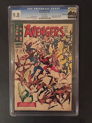 Avengers 44 !! Cgc 9.8 !! 1St Black Widow !! Rocky Mountain Collection !!