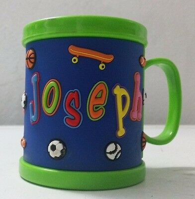 Kids 3D Personalised Name Plastic Cup/Mug New Perfect Bday Gift Party Gift Fun