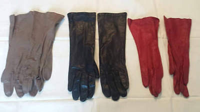 9 pairs of vintage leather gloves