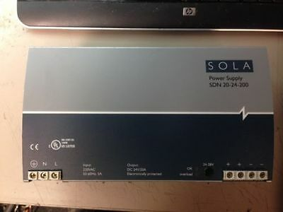 SOLA SDN 20-24-200 SDN2024200 Power Supply 24V 20A