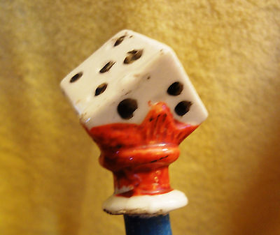 Vintage collectible carnival dice cane walking stick