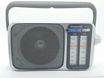 Panasonic RF-2400 FM/AM 2 Band Portable Radio w/Big Dial/Panel in EXCELLENT con