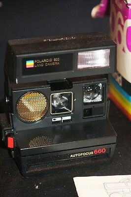 1981 Polaroid Autofocus 660 Land Camera-Original Box & Book