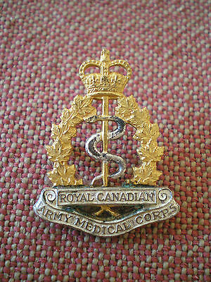 1950s Royal Canadian Army Medical Corps Officer Collar Badge by Scully