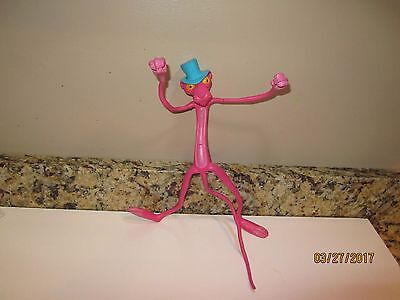 """1970s - PINK PANTHER 10"""" Stretchy Toy - UNITED ARTISTS - Mirisch-Geoffrey AMSCAN"""