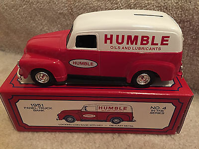 Ertl 1951 Humble Oil And Luricants Panel Truck Bank, Die Cast Metal