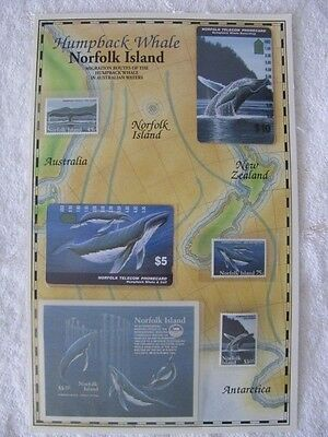 Norfolk Island Phone card and stamp set