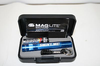 Smint Me mints Promo Blue Mag-lite Solitaire flashlight AAA battery keychain NOS