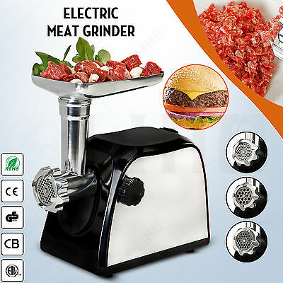 Electric Stainless Steel Meat Grinder Kitchen Home Commercial Sausage Stuffer