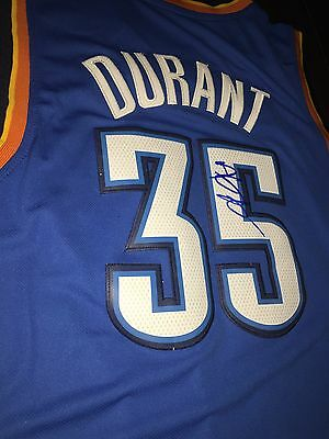 Kevin Durant Signed Okc Thunder Jersey -COA Proof - Golden state warriors
