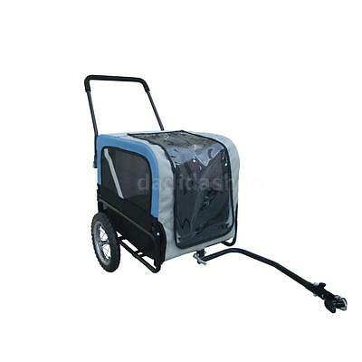 New Dog Bike Bicycle Trailer Storller Jogger Outdoor Grey And Blue J0F0