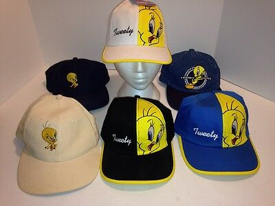 vintage looney tunes hats lot of 6 tweety bird